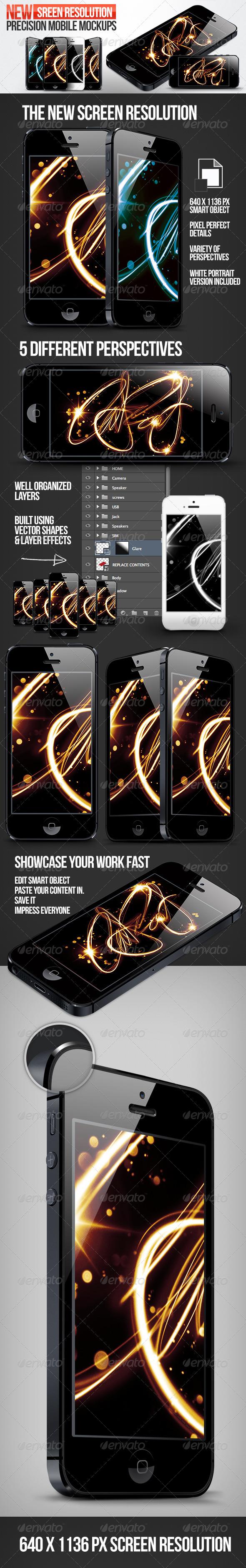 GraphicRiver Precision Phone Mockups 3037633