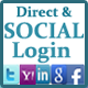 Social and Direct Login