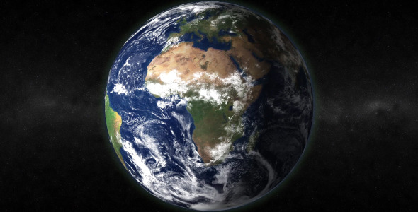 Looping Realistic Earth With Matte