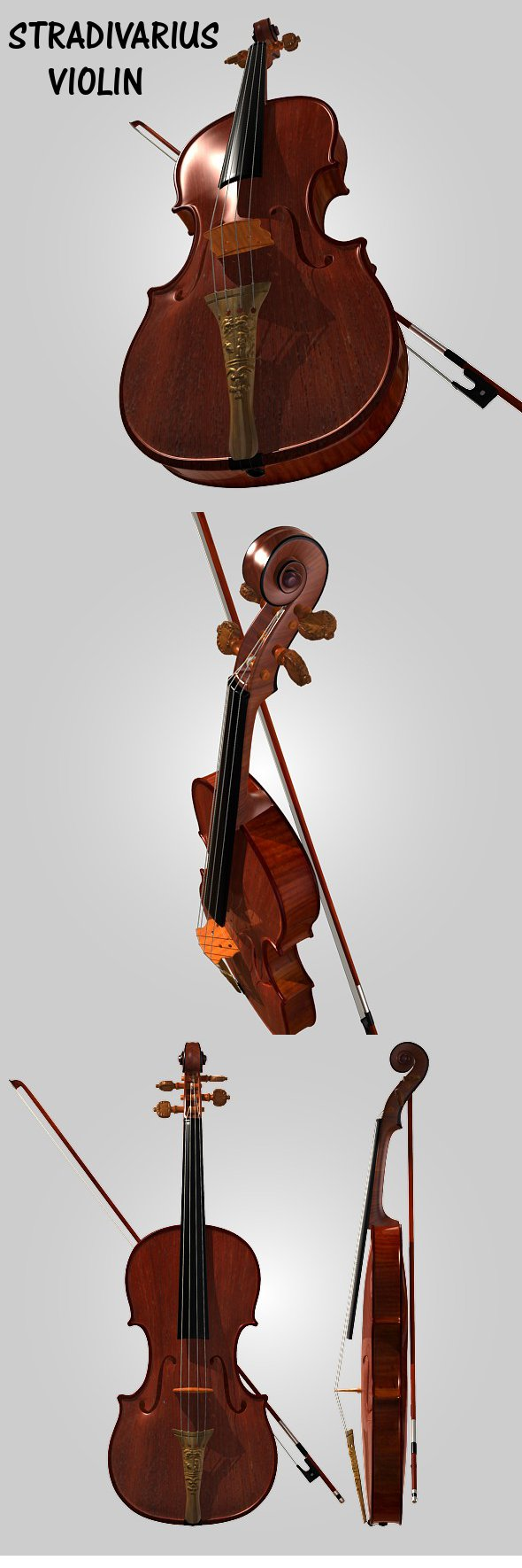 Stradivarius violin - 3DOcean Item for Sale