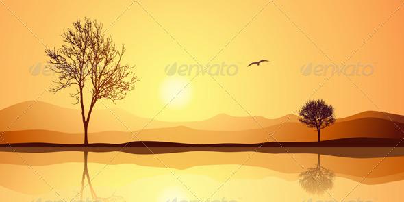 Landscape with Reflection - Landscapes Nature