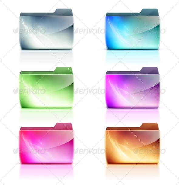 Folder icons - Technology Conceptual