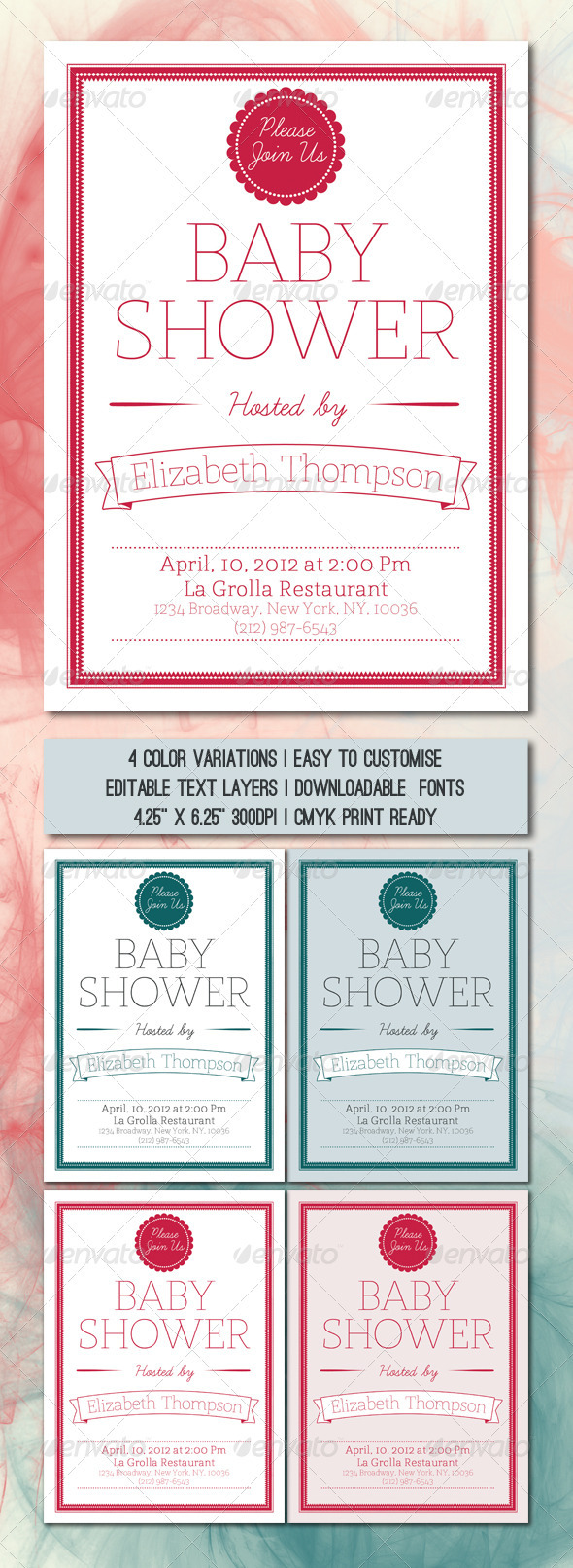 Baby Shower Card Template - Invitations Cards & Invites