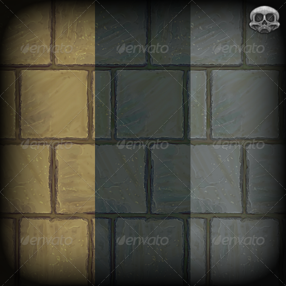 Stone Paving Slab Texture Tile - 3DOcean Item for Sale