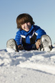 Young Boy Playing In Snow On Holiday In Mountains - PhotoDune Item for Sale