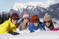 Group Of Children Having Fun On Ski Holiday In Mountains - PhotoDune Item for Sale