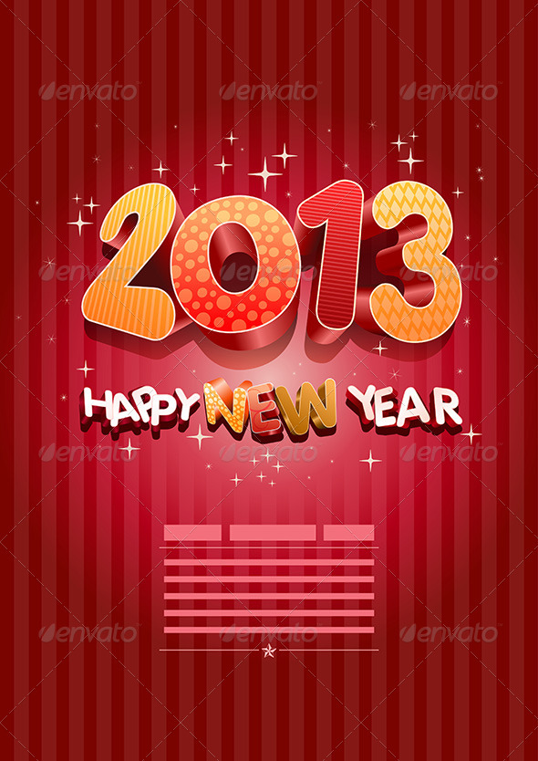 GraphicRiver 2013 Happy New Year 3070796