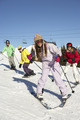 Teenage Family On Ski Holiday In Mountains - PhotoDune Item for Sale