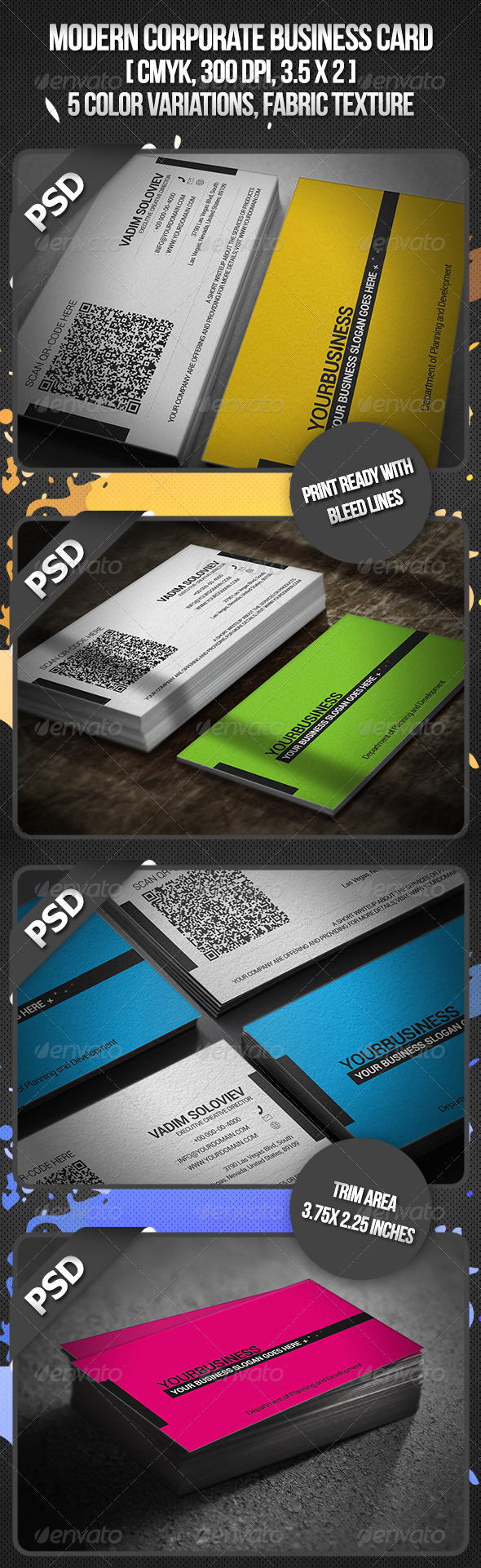 GraphicRiver Modern Corporate Business Card 3071224