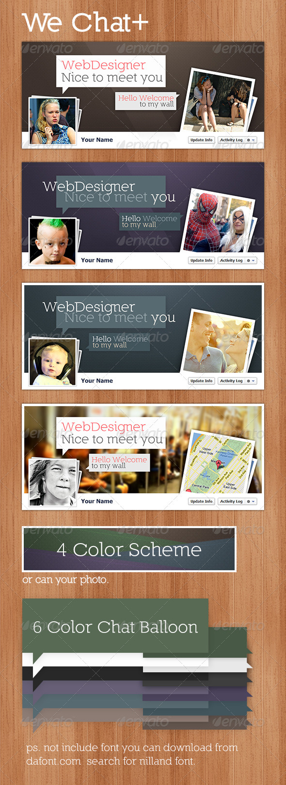 GraphicRiver FB Cover We Chat 3072364