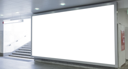 Blank billboards