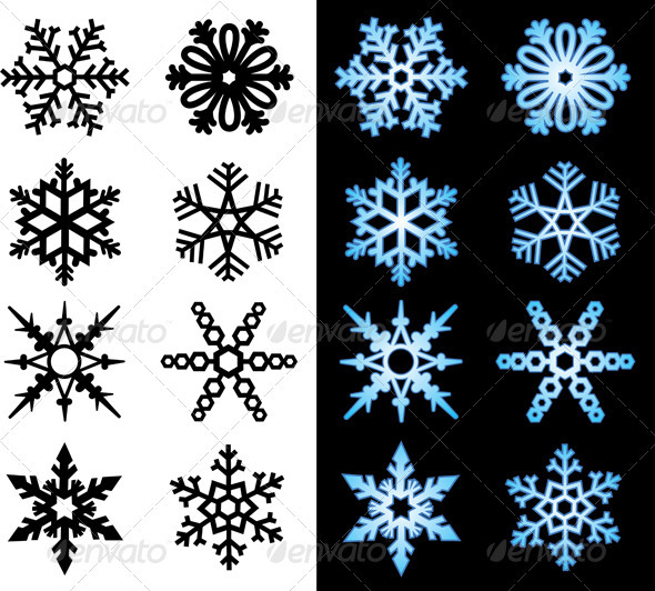 GraphicRiver Snowflake Icons 3072821