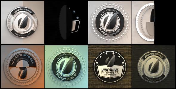 Four Retro Badges