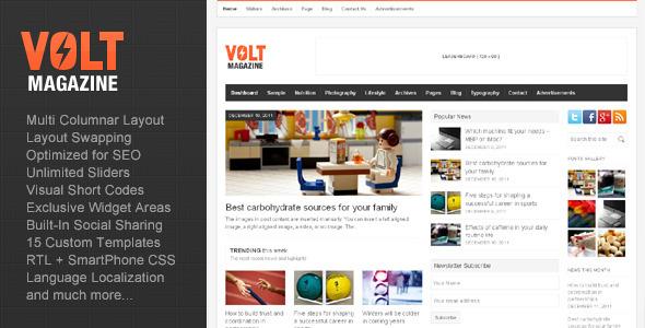 ThemeForest Volt Magazine Editorial WordPress Theme 1044745