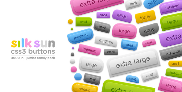 CodeCanyon silksun CSS3 buttons 4000 in 1 jumbo family pack 109108