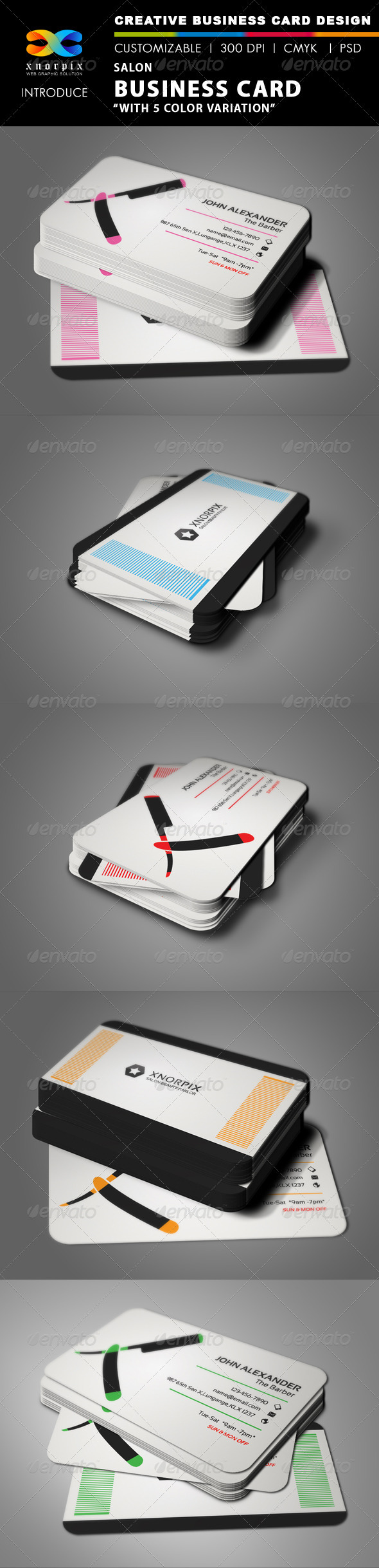 Salon Business Card - Industry Specific Business Cards