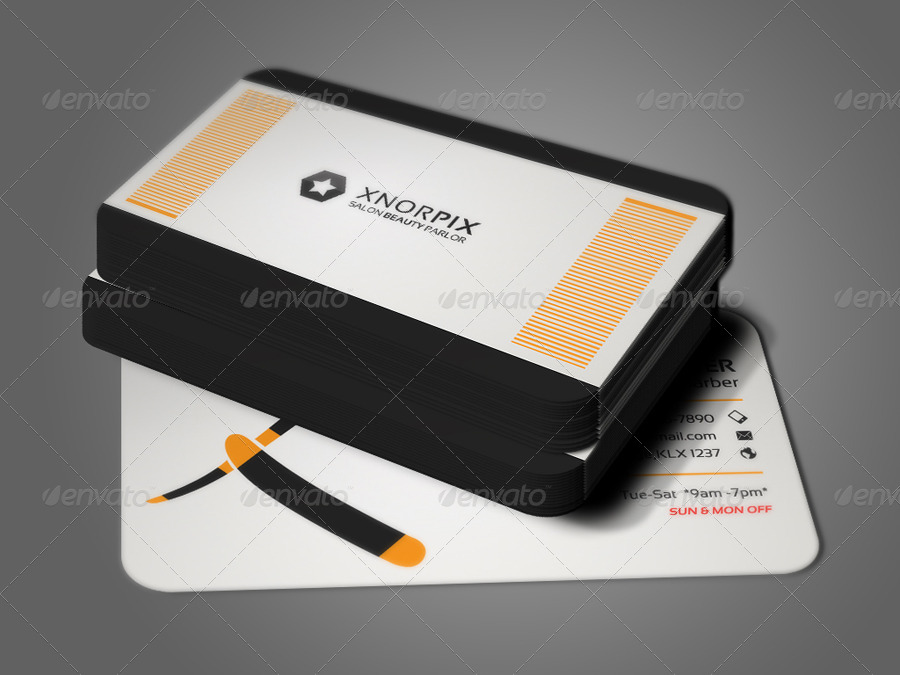 Salon business card by axnorpix graphicriver for X salon mulund rate card