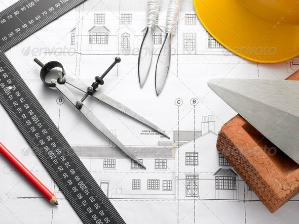 PhotoDune Building Equipment On House Plans 316157