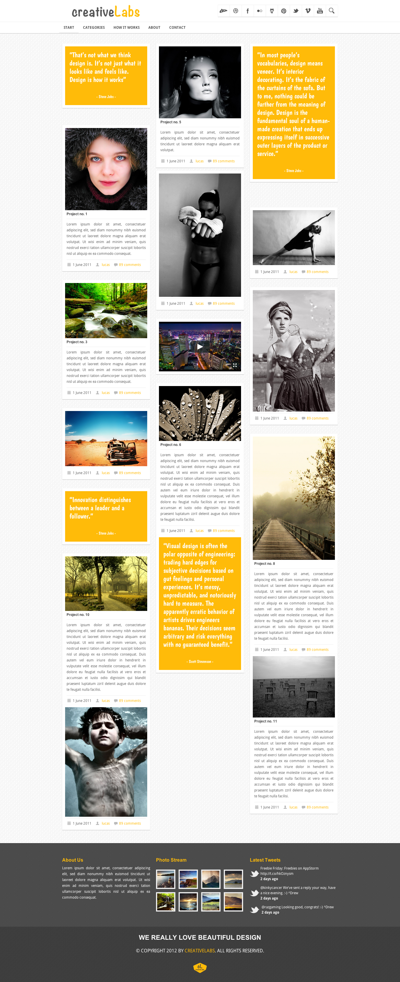 PinWall HTML5 and CSS3 Responsive Template