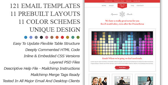 ThemeForest Dynamic Emailer Premium Email Template 3073989