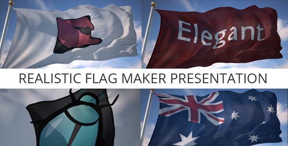 VideoHive Realistic Flag Maker Presentation 3075352