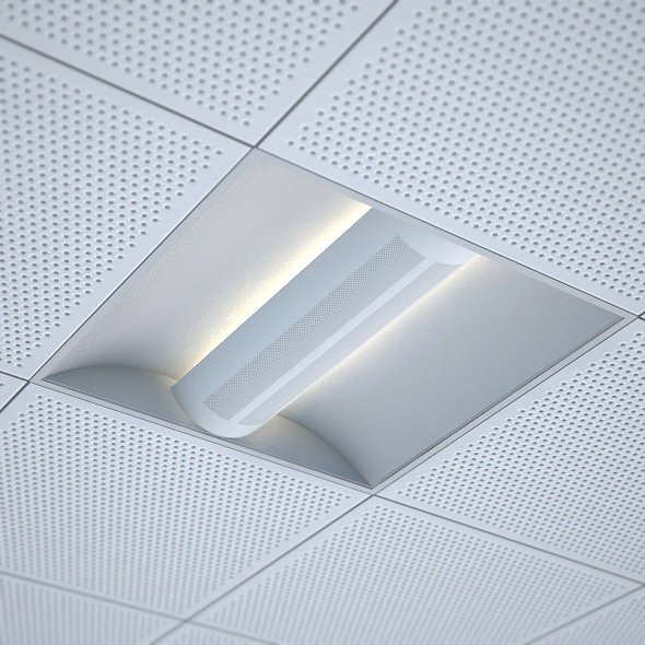office recessed ceiling light 3docean item for sale