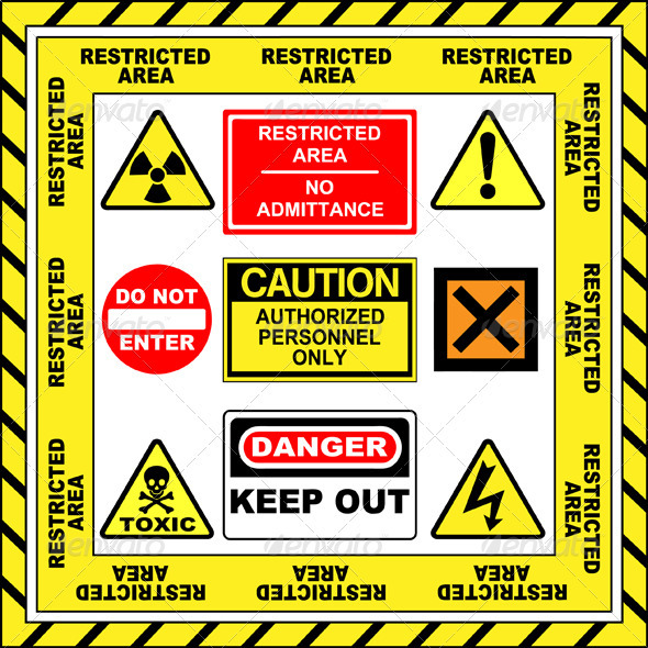 Warning Signs - Miscellaneous Vectors