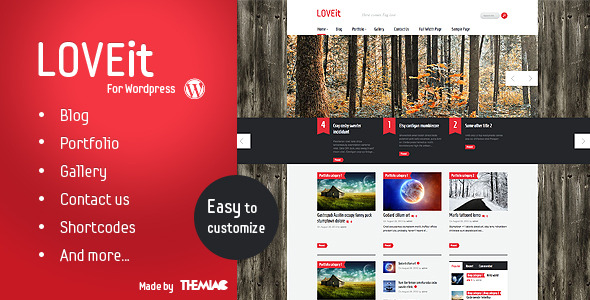 Awesome Wordpress Magazine/blog Theme - LOVEit