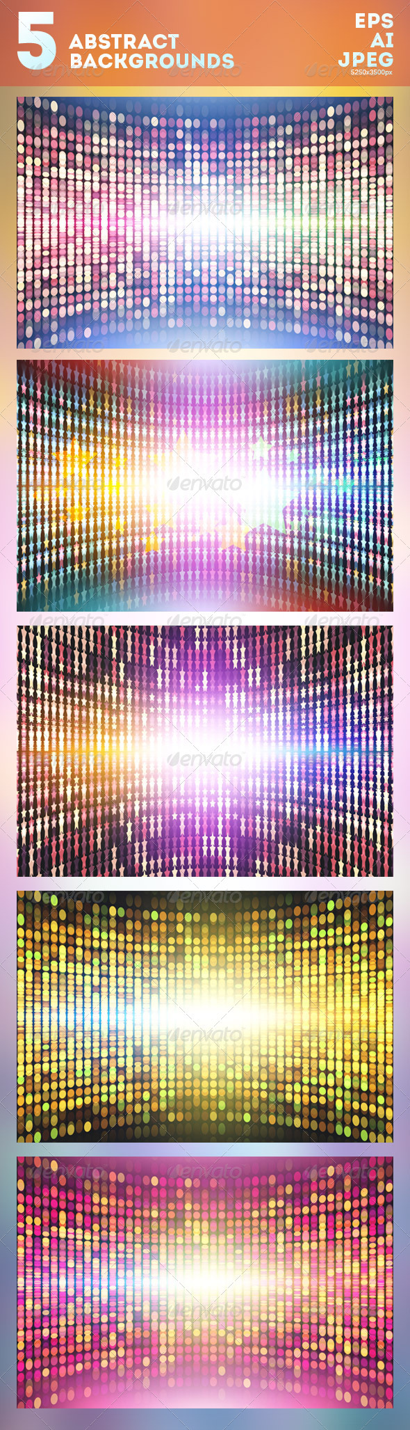 5 Abstract Vector Backgrounds