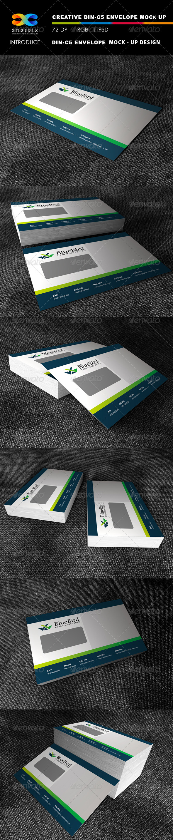 DIN 5 Envelope Mock-up - Stationery Print