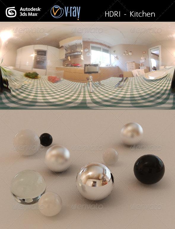 3DOcean HDRi Kitchen 3076207