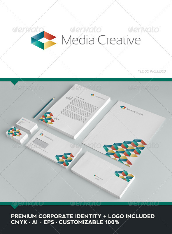 Media Creative - Corporate Identity - Stationery Print Templates