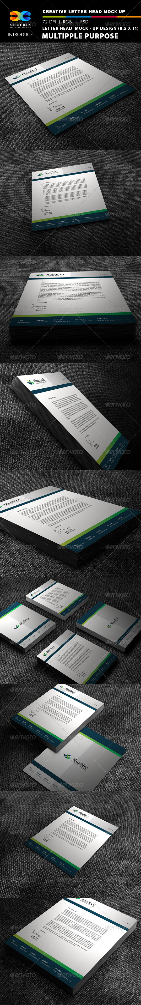 Letter Head Mock-up - Stationery Print