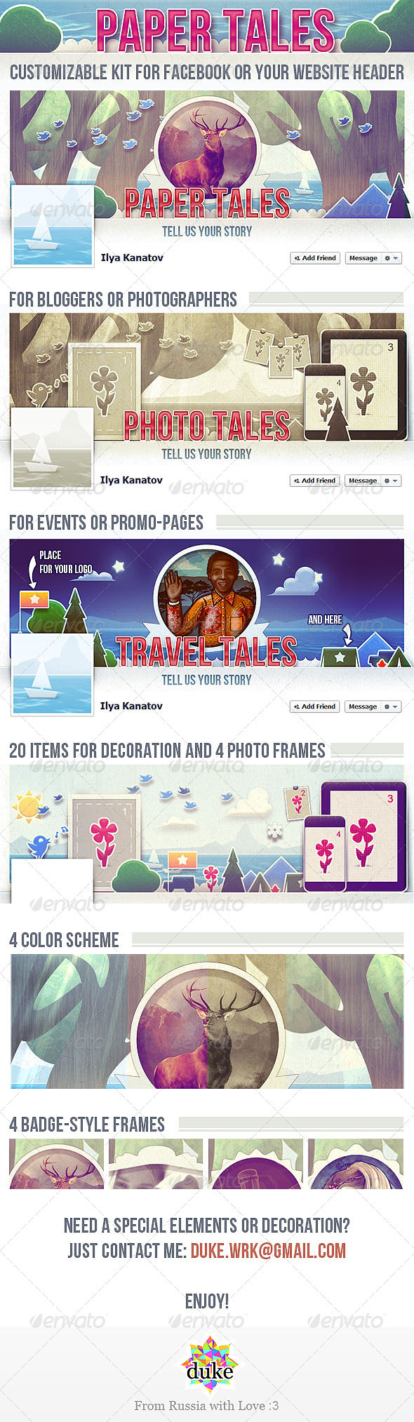 Paper Tales FB Timeline Cover - Facebook Timeline Covers Social Media
