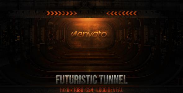 VideoHive futuristic tunnel reveal 3078211