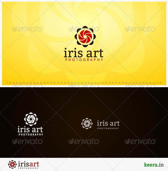 GraphicRiver iris art photography logo template 3076306