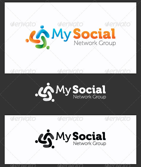 My Social Network Group Logo Template - Symbols Logo Templates