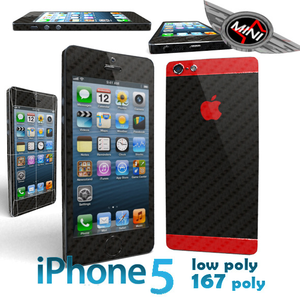 I-Phone 5 Low Poly 167 - 3DOcean Item for Sale
