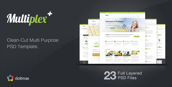 Multiplex - A Clean-Cut Multi Purpose PSD Template