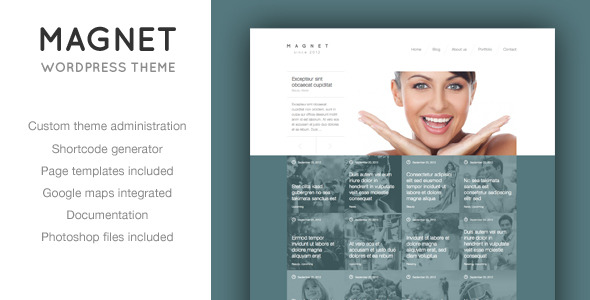 Magnet - Unique News or Portfolio WordPress Theme