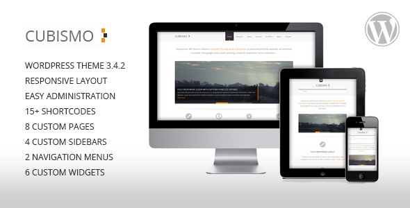 ThemeForest Cubismo Minimal Responsive Wordpress Theme 3068469