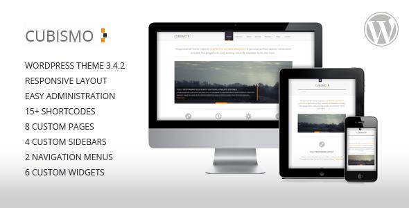Cubismo - A New Minimal Responsive WordPress Premium Theme