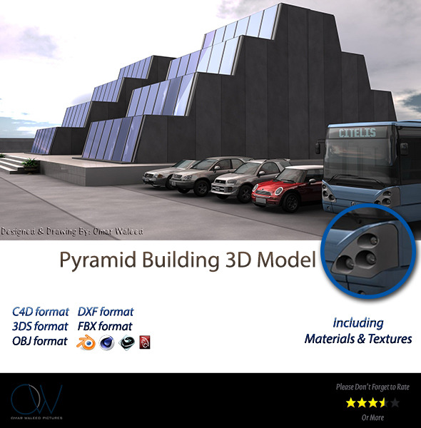 Pyramid Building 3D Model - 3DOcean Item for Sale