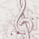 Vector hand drawn treble clef and notes - GraphicRiver Item for Sale