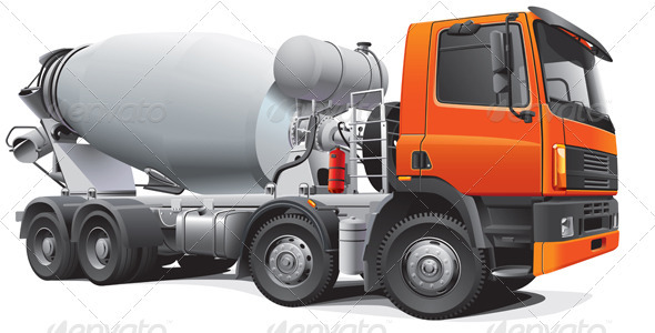 Large Concrete Mixer - Objects Vectors