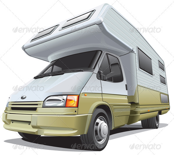 Compact Camper - Objects Vectors