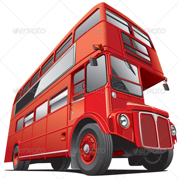 London Double Decker Bus - Objects Vectors