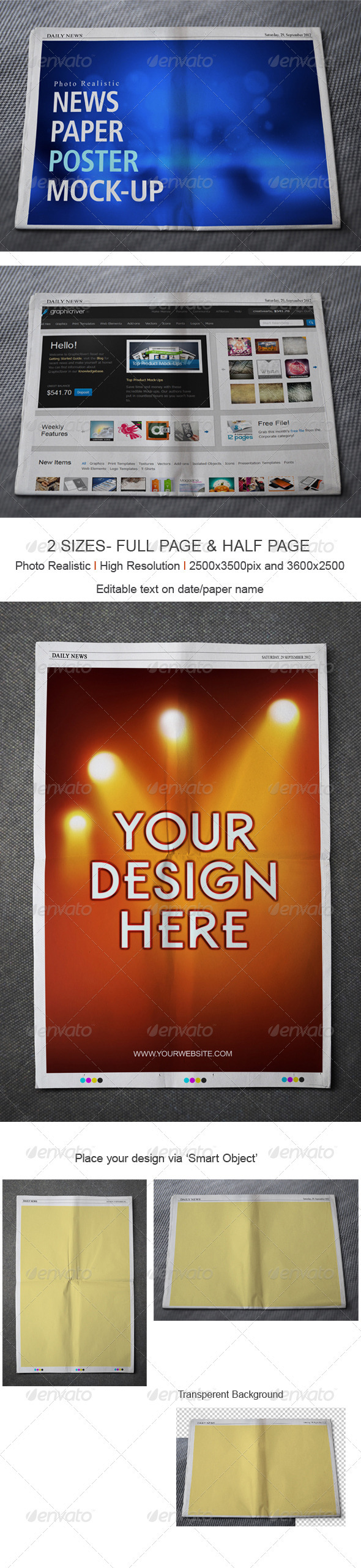 GraphicRiver News Paper Mock up 3079743
