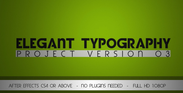 VideoHive Elegant Typography V3 3068048