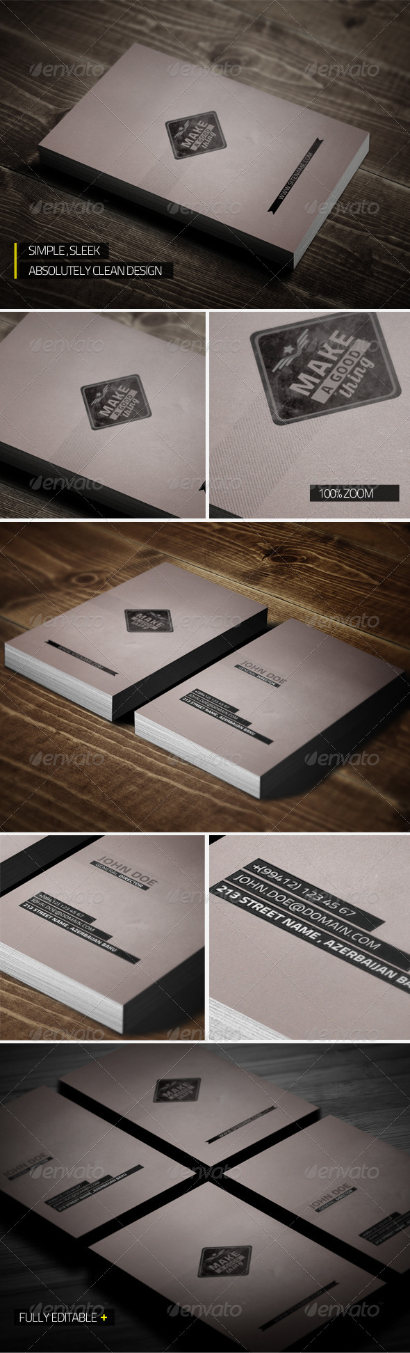GraphicRiver Unique Clean Business Card 3081587